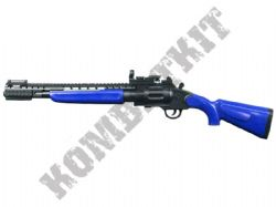 MTs255 Revolver Shotgun Pump Action Airsoft BB Gun 2 Tone Black and Blue